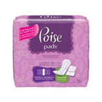 Poise Moderate Pads, Long length