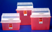 3 Gallon Rigid Plastic Container Translucent Red