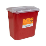 2 Gallon Sharps Container Red