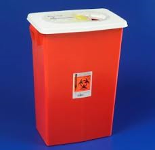 8 Gallon Red Container with Sliding Lid
