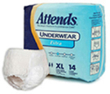 Attends Extra Absorbency Protective Underwear size X-Large