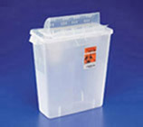 Sharps Container w/ Always-Open 12 Qt